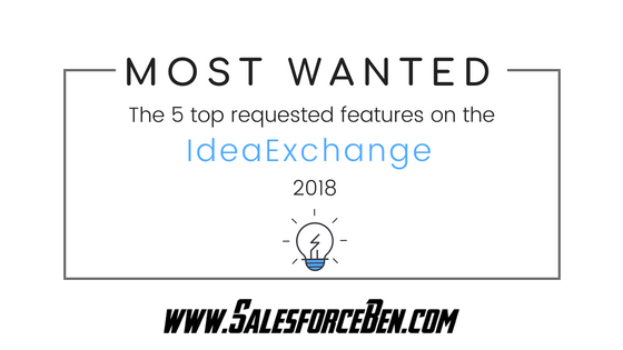 IdeaExchange Most Wanted: 5 top requested Salesforce features 2018