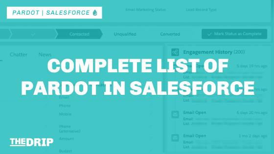 Complete List of Pardot in Salesforce [Updated]