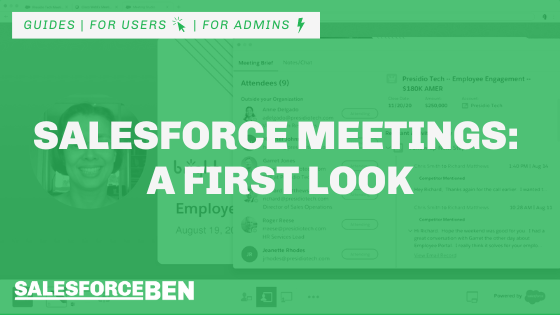 Salesforce Meetings – A First Look