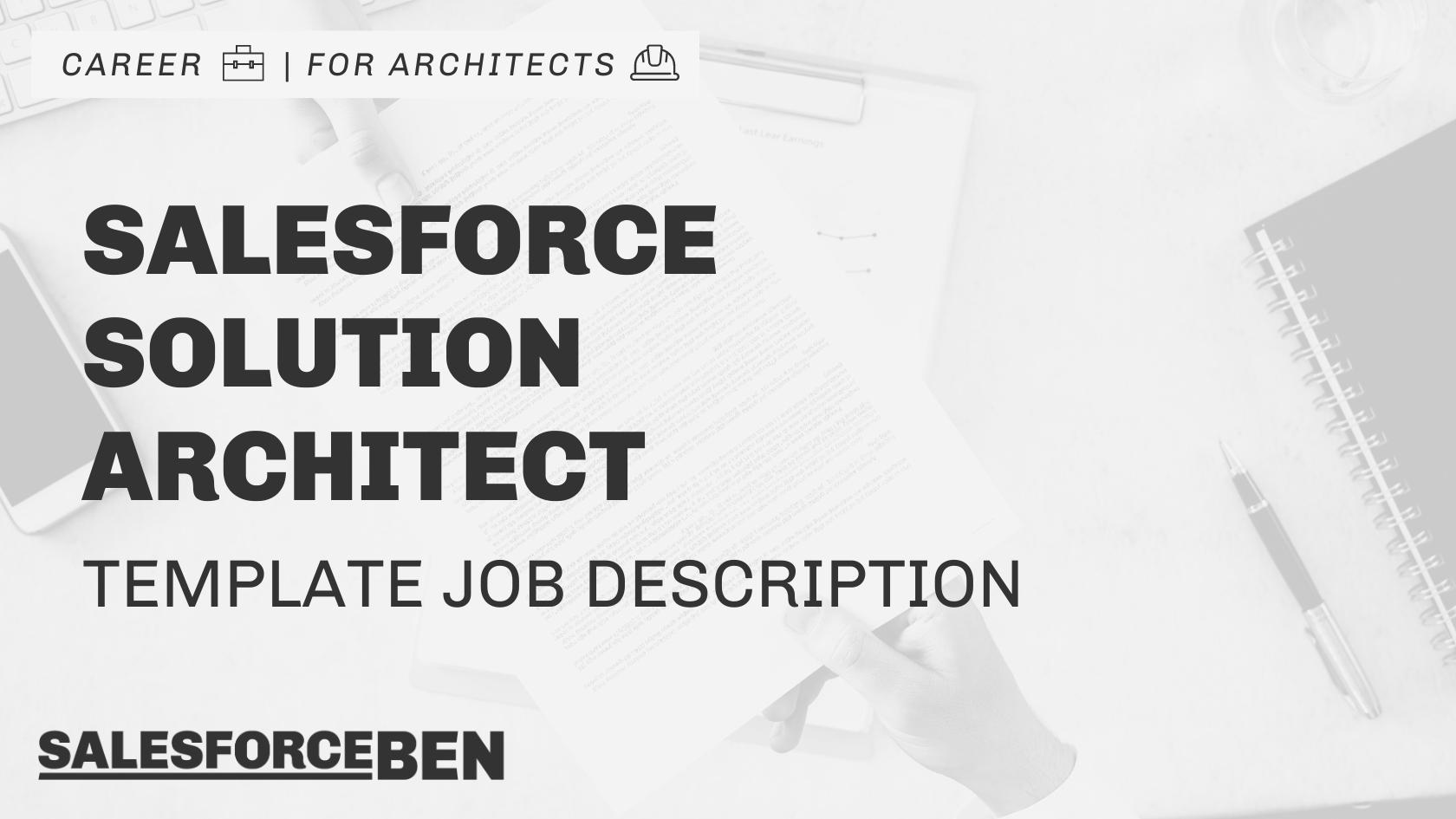 Salesforce Solution Architect Job Description